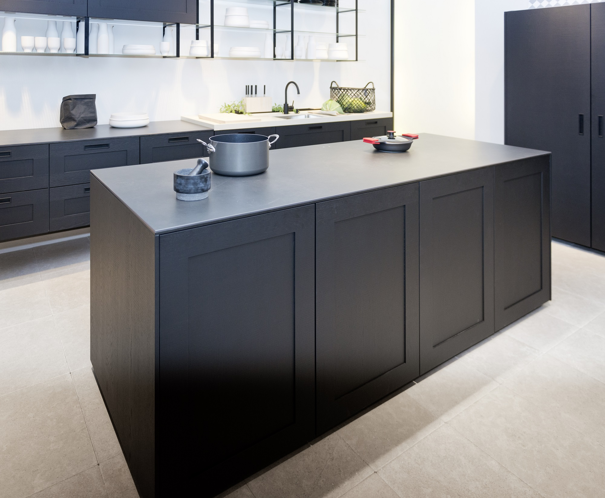 nolte kuechen livingkitchen 2017. Black Bedroom Furniture Sets. Home Design Ideas